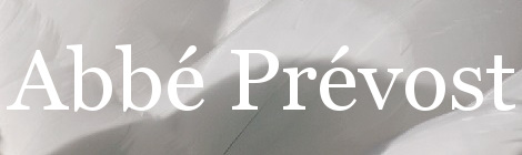 Abbé Prevost. Portada
