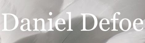 Daniel Defoe. Portada