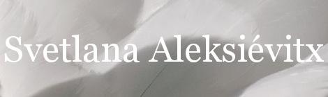 Svetlana Aleksiévitx. Portada