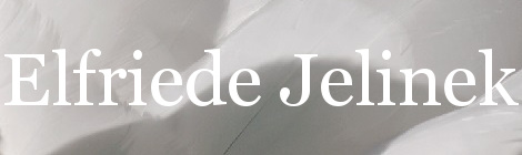 Elfriede Jelinek. Portada