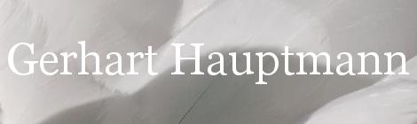 Gerhart Hauptmann. Portada