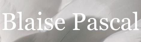 Blaise Pascal. Portada