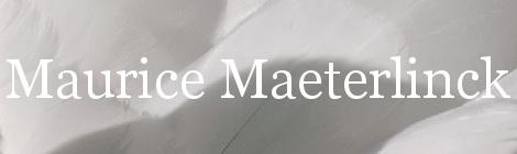 Maurice Maeterlinck. Portada